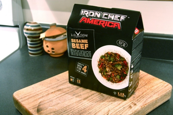 News new iron chef america frozen meals brand eating for Allez cuisine iron chef