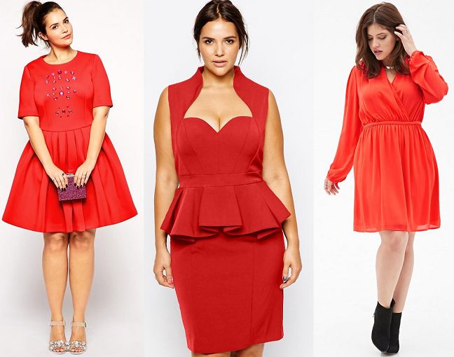 Red Silhouette Dresses