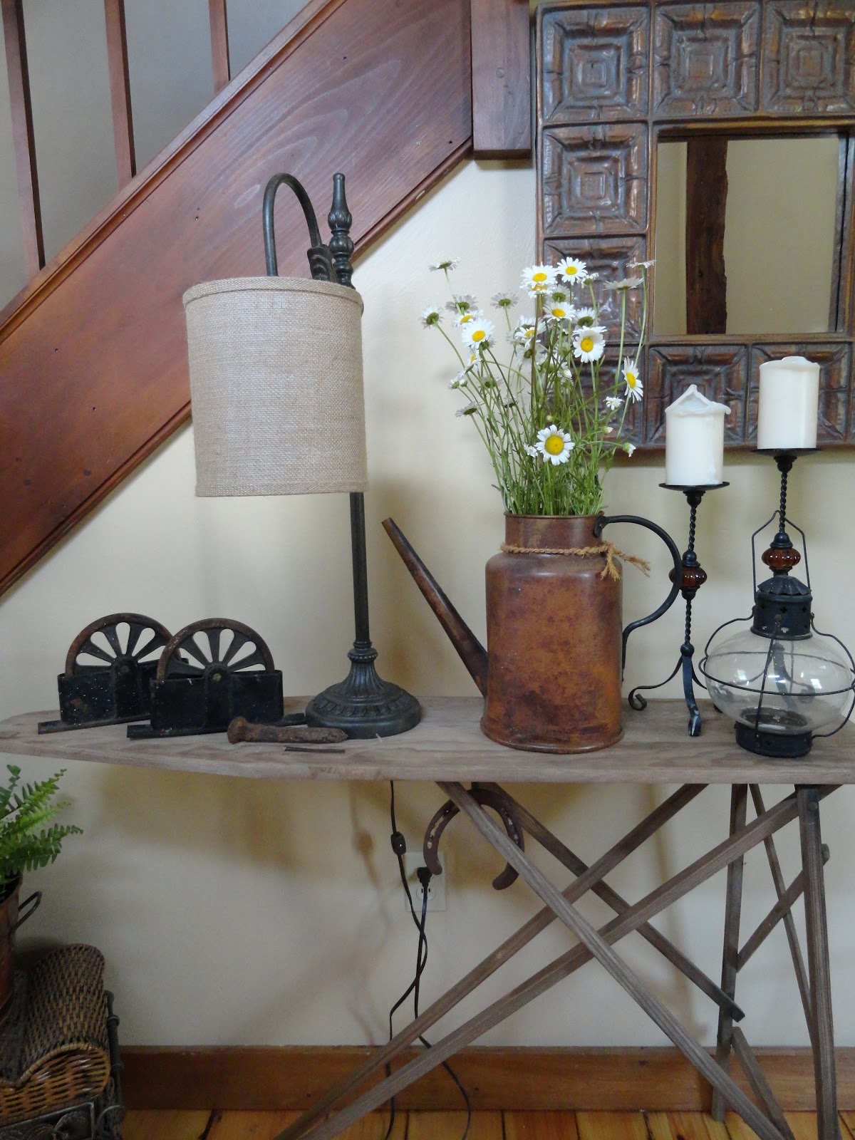 The Long Awaited Home Antique Ironing Board Entry Table