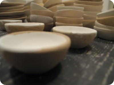 Small bowls handthrown - all kinds of stoneware clay bodies