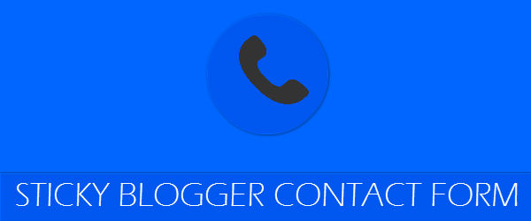 Sticky blogger contact form