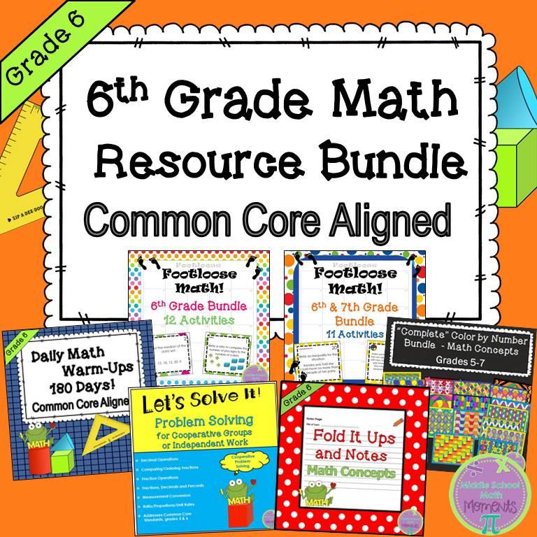 6th Grade Math Resource Bundle