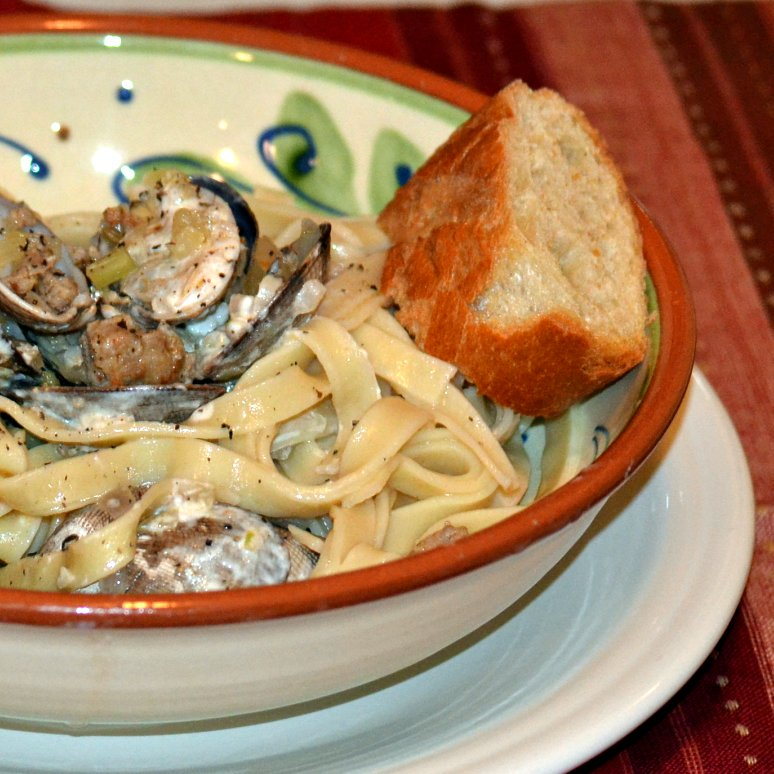 The Foodie Couple: Manila Clam and Sausage Linguine with Horseradish ...