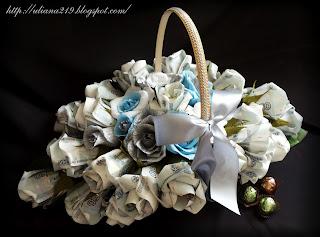 Корзина цветов из денег своими руками фото 7