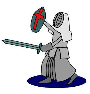 Knight prepared for Christian battle