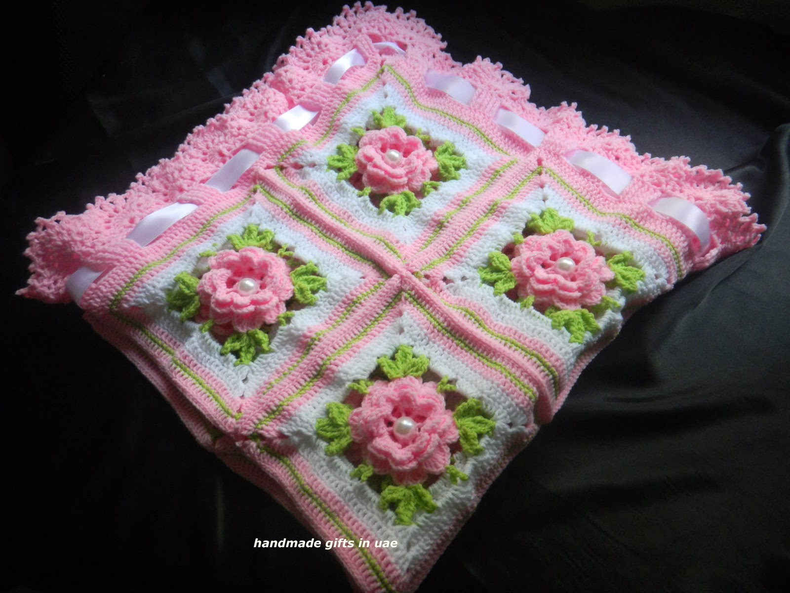 sandvicrochet: crochet 3D flower blanket