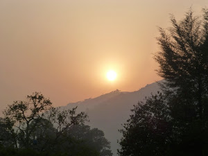 Sunrise over the Kisiizi hills