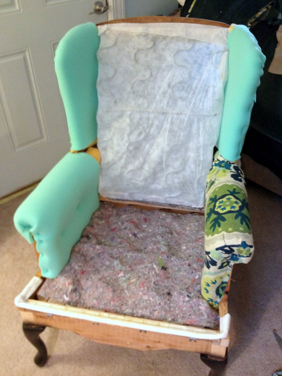 ... B2k Take It To The Floor By Make Bake And Love Re Upholstering A Wing  Back ...