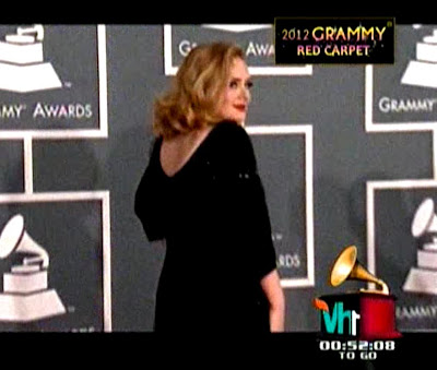 Adele (Adele Laurie Blue Adkins) at 2012 Grammy Awards Red Carpet