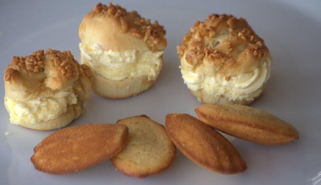 martinas kochk che backen mit kindern vii bienenstich muffins und madeleines. Black Bedroom Furniture Sets. Home Design Ideas