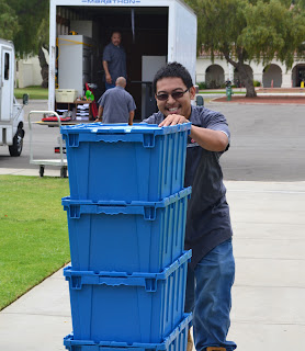 OPC Staff member, Jerry, helping with a move.