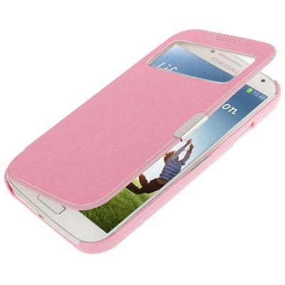 with Sleep Wake-up & Call Display for Samsung Galaxy S IV i9500 (Pink