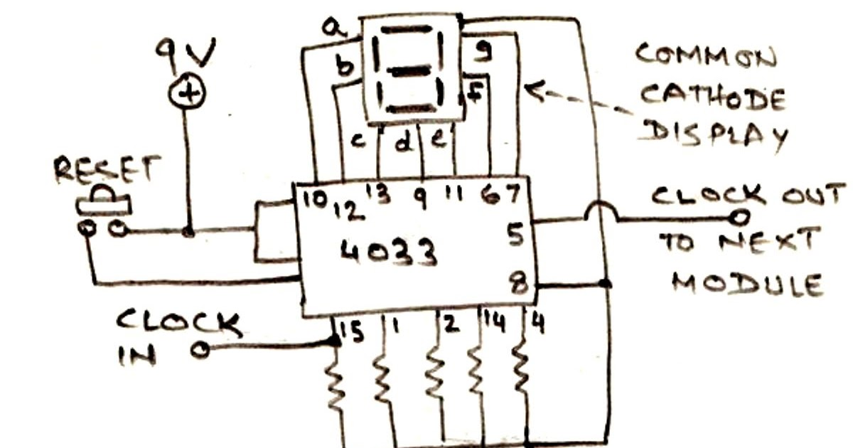 Frequency Counter Schematic Diagram : Simple frequency counter circuit diagram using a single ic