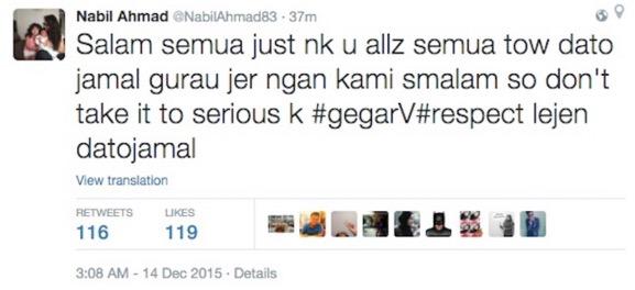 Jawapan Nabil Ahmad isu Jamal Abdillah terlalu serius dan tak bawa boleh bergurau
