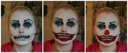 Caras pintadas para chicas dise o payaso for Caras pintadas para halloween