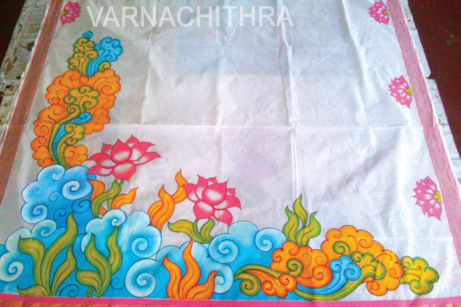 Varnachithra sarees mural for A mural is painted on a