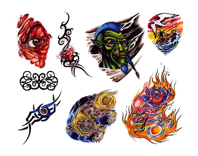 Color Tattoo Drawings