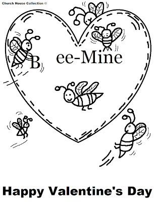Church Valentine Coloring Pages