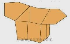 Bước 15: Hoàn thành cách xếp hộp giấy có tay cầm đơn giản.