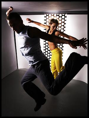 Kreatywna fotografia ruchu. Portret podwójny. Instruktorzy fitnessu. fot. Łukasz Cyrus, Ruda Śląska