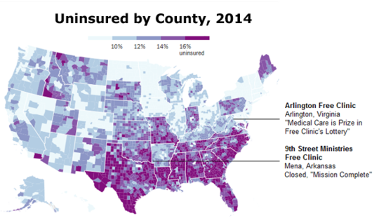 The Uninsured, By County