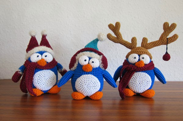 Tutorial Amigurumi Pinguino : Lo Scrigno dei Segreti: Pinguino natalizio