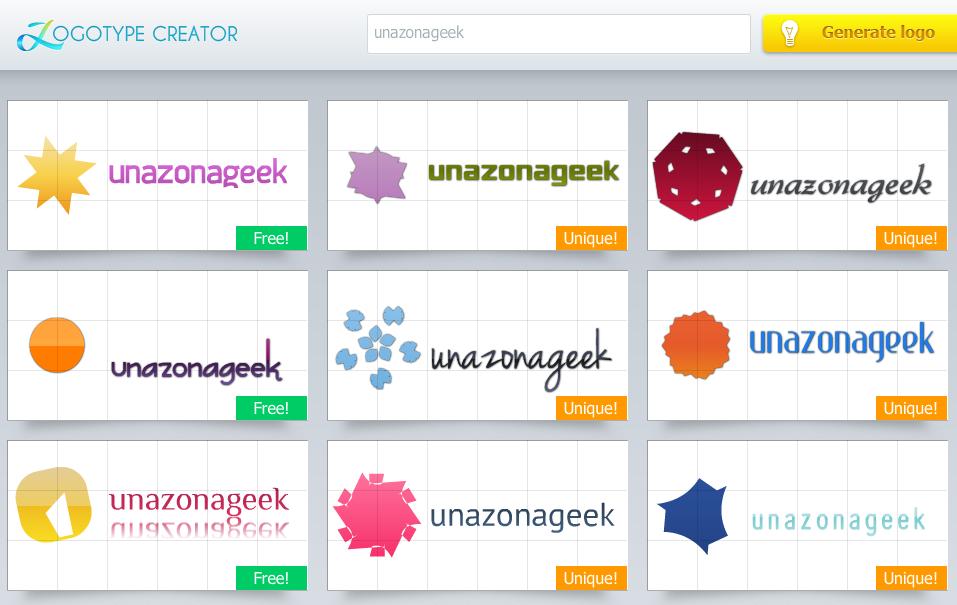 Logotype creator un generador de logotipos online y for Generador de logos