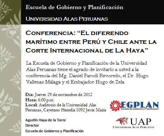 Conferencia  Diferendo Per   Chile Ante La CorteInternacional De