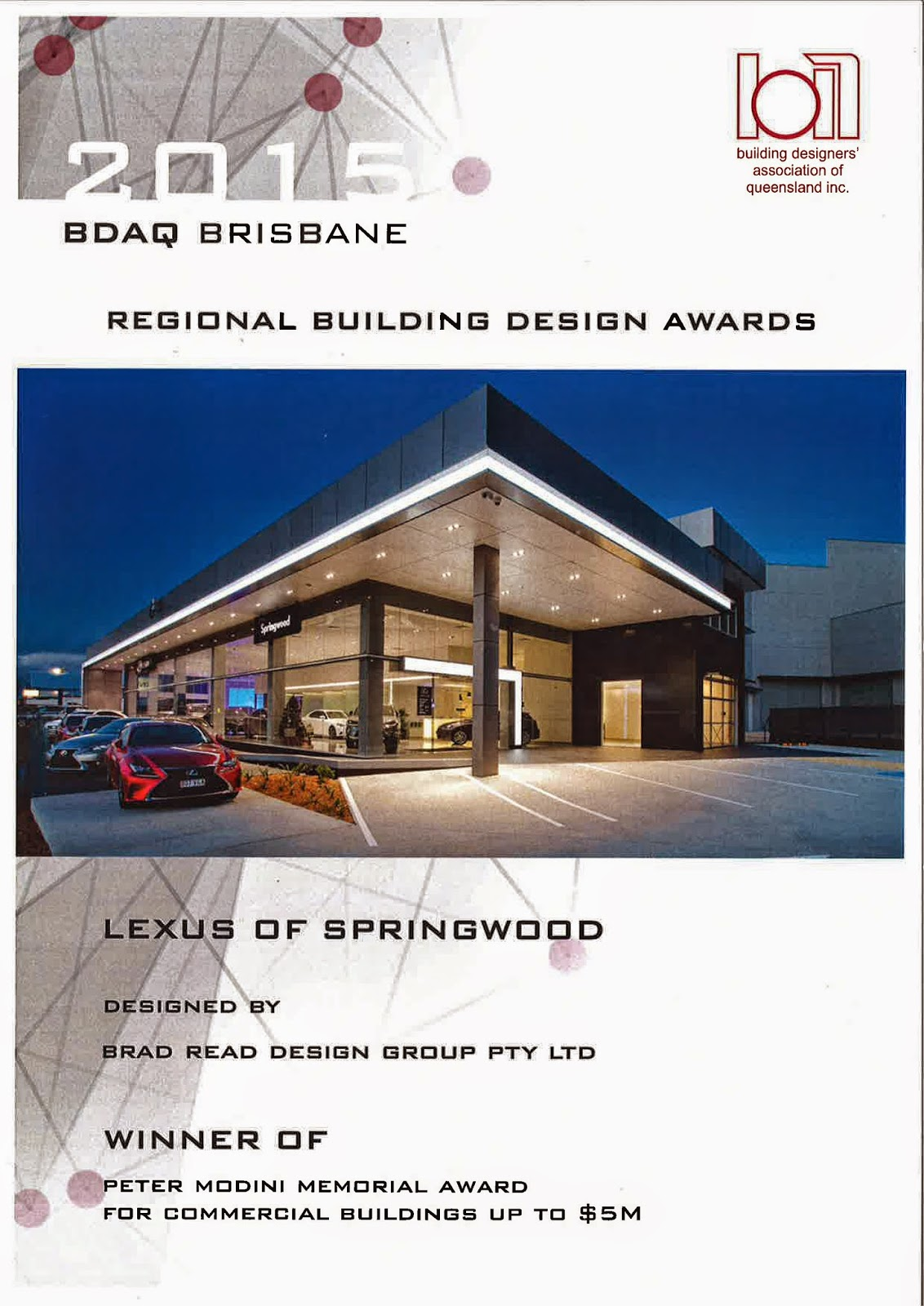 Brad read design group pty ltd for Outer space design group pty ltd