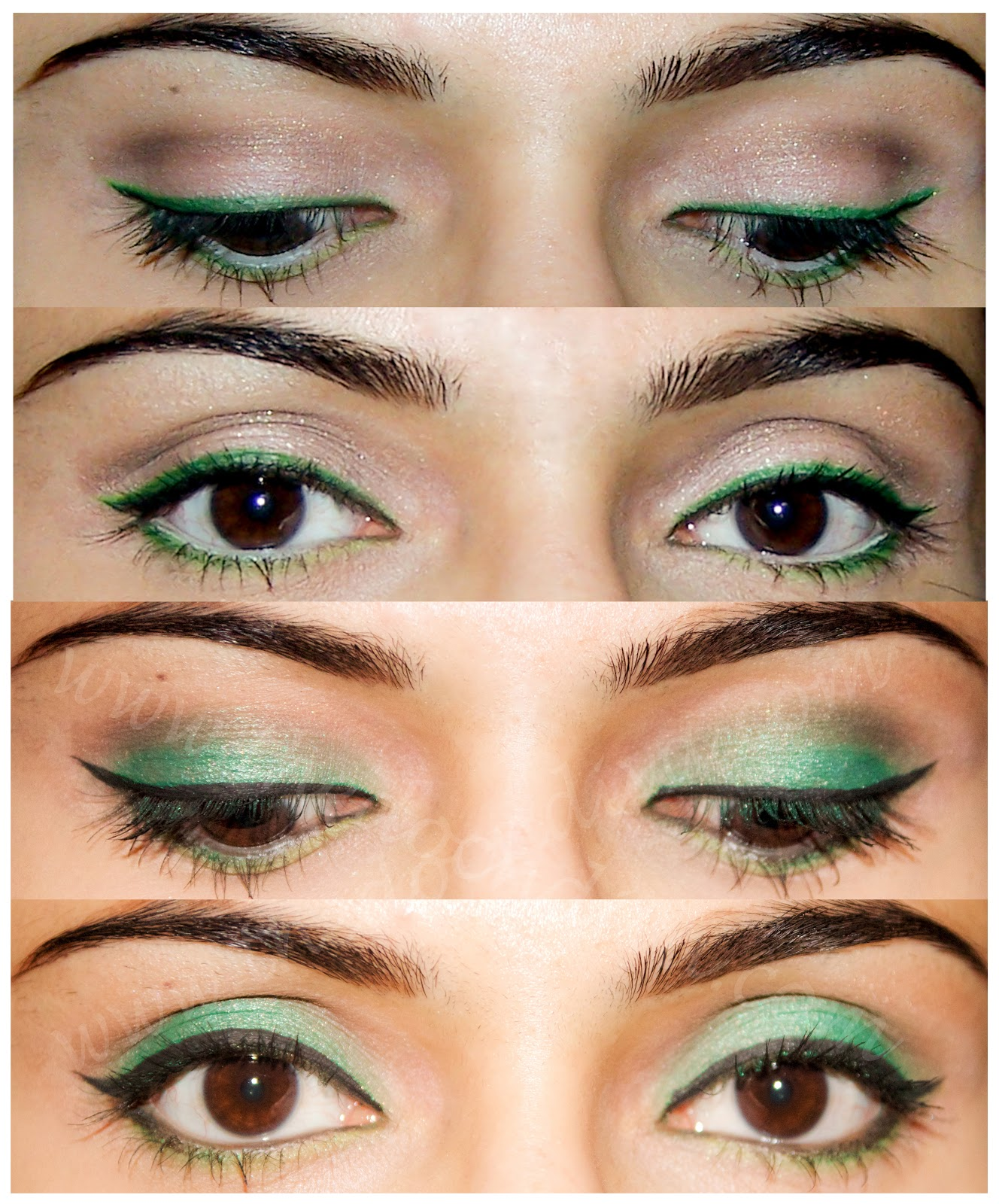 How To Wearable Green Eyeliner And Green Eyeshadow Look Thedocndiva