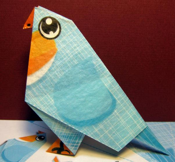 Papermau The Blue Bird Origami Papercraft For Kids By