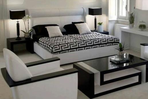 Construindo Minha Casa Clean Branco e Preto na Decoração!!! ~ Quarto Sala Moderno