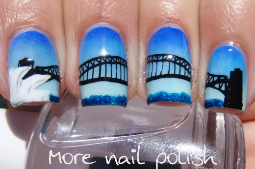 23 australia day nail art ideas more nail polish 1 sydney harbour bridge and the opera house prinsesfo Gallery
