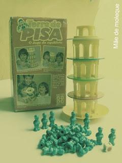 Jogo torre de pisa antigo