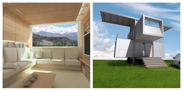 prototipo de casa ecológica autosuficiente, la Zero House, casa prefabricada y totalmente autosuficiente que no necesita estar conectada a nada.