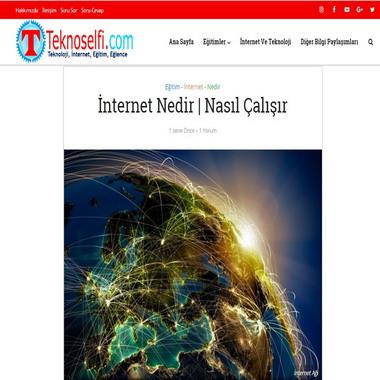 teknoselfie com - internet nedir nasıl çalışır