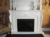FRENCH GARDEN TREASURE CUSTOM FIREPLACE MANTEL  AND INTERIOR WALL (TUSCANY WALL FINISH)