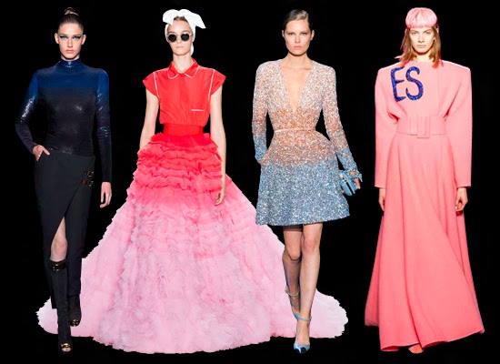 Atelier Versace, Giambattista Valli, Elie Saab, Schiaparelli Haute Couture collections Fall Winter 2014