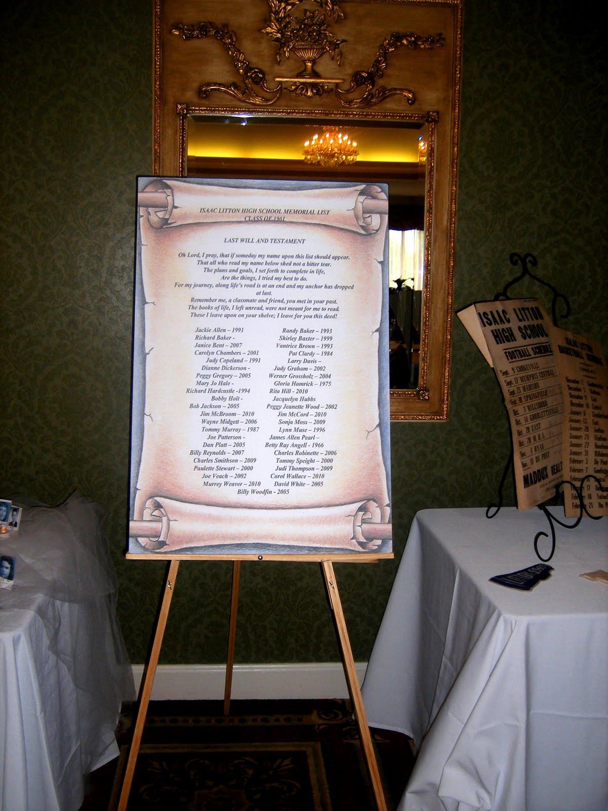 Class Reunion Memorial Table Ideas modern class reunion invitation Bluegrass Yacht Country Club Class Reunion Memorial Table Ideas