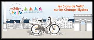 5ans du Vélib Champs Elysées