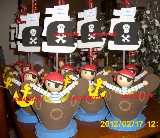centros de mesa para fiesta de piratas