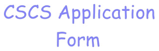 cscs application form