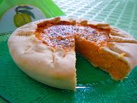 sfoglia di pasta con ripieno di zucca, pinoli, farina di granturto, origano e parmigiano:la torta di zucca