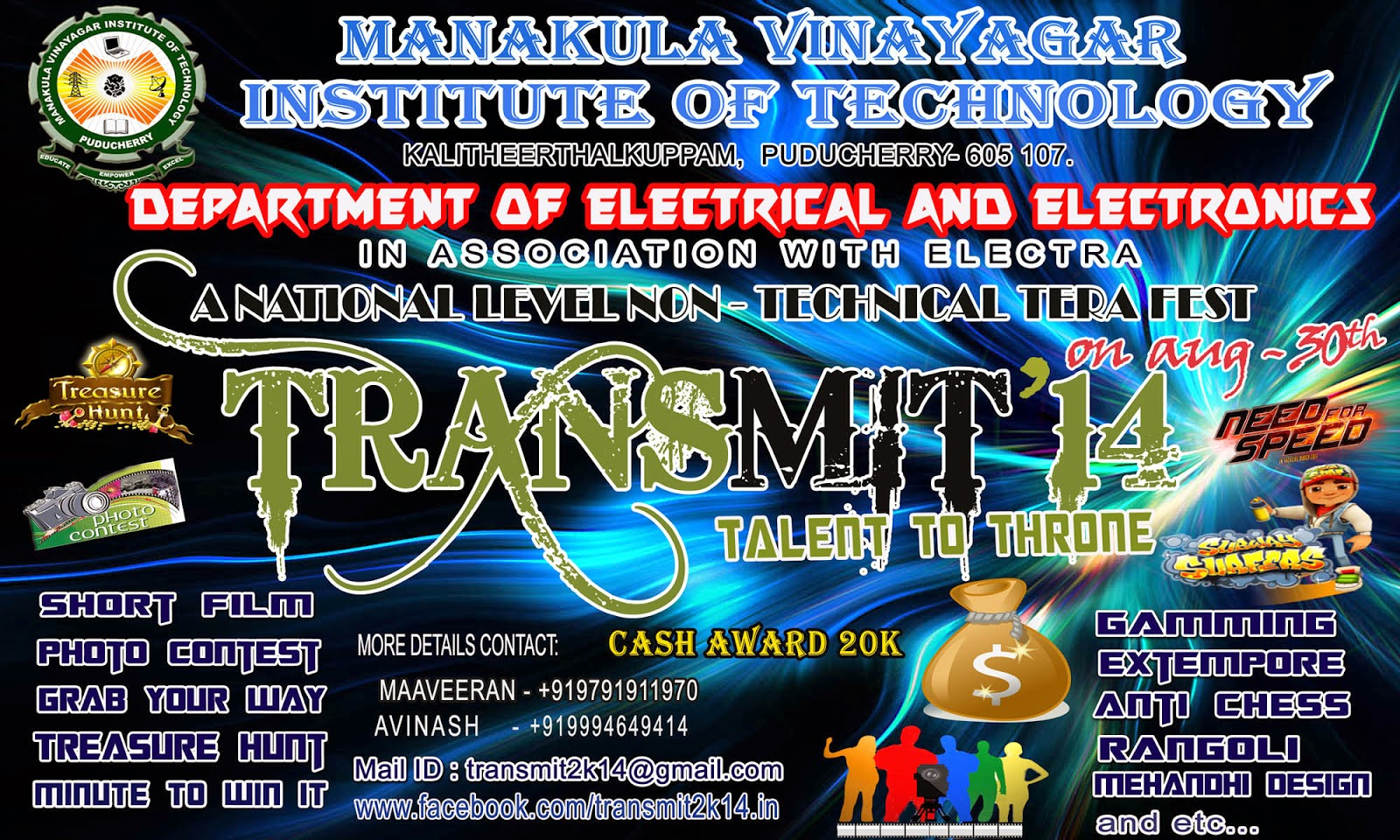 TRANSMIT'14 A National level Non-Technical Tera Fest
