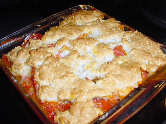 Eating Floyd...: Cooking Floyd: Tomato Cobbler