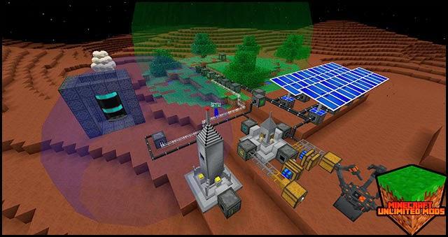 GalactiCraft Mod Estación espacial en Marte