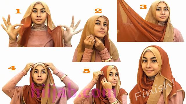 Hijab Styles Anggun dan Cantik | Kumpulan Panduan Cara