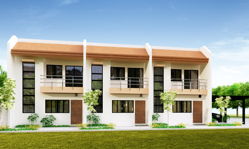 Ofw business ideas 4 doors concrete apartment at p175k for Small townhouse floor plans
