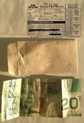 TTC Excess Fare Refund in Cash