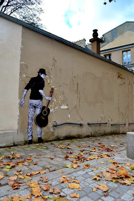 """Orphee"" New Street Art Installation By Levalet on the streets of Paris, France. 3"